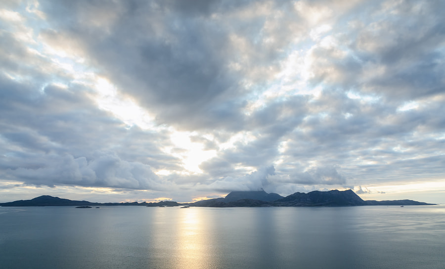 Helgeland Archipelago at Arctic Circle
