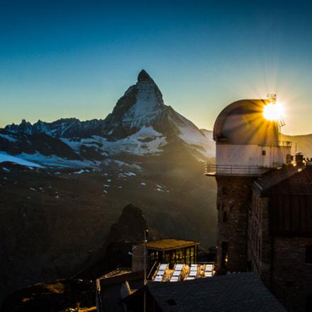 Sunset over Matterhorn