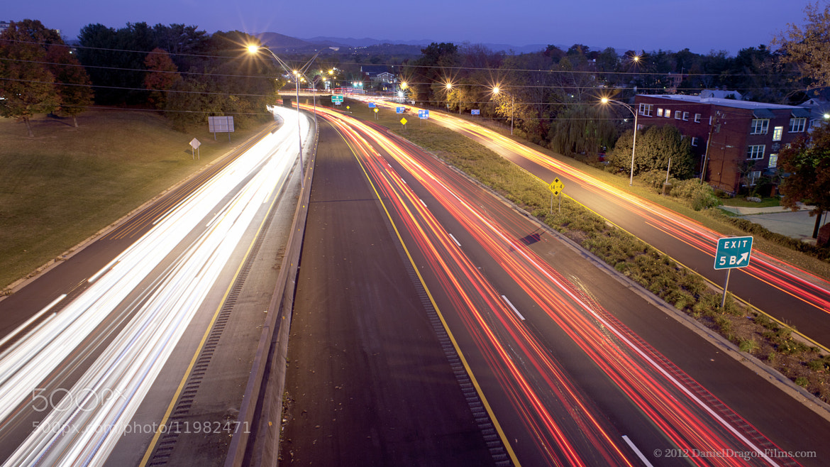Photograph Asheville at Dawn, facing west over I-240 by Daniel Lowe on 500px