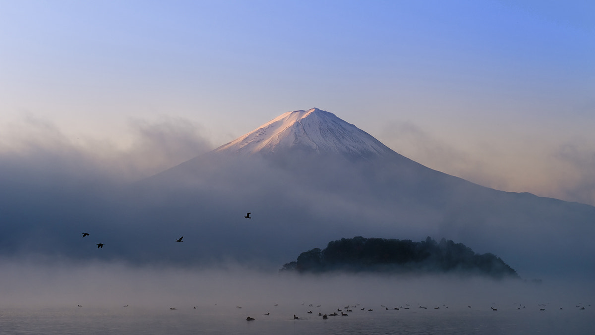 Photograph Fujiyama first light by Coolbiere. A. on 500px