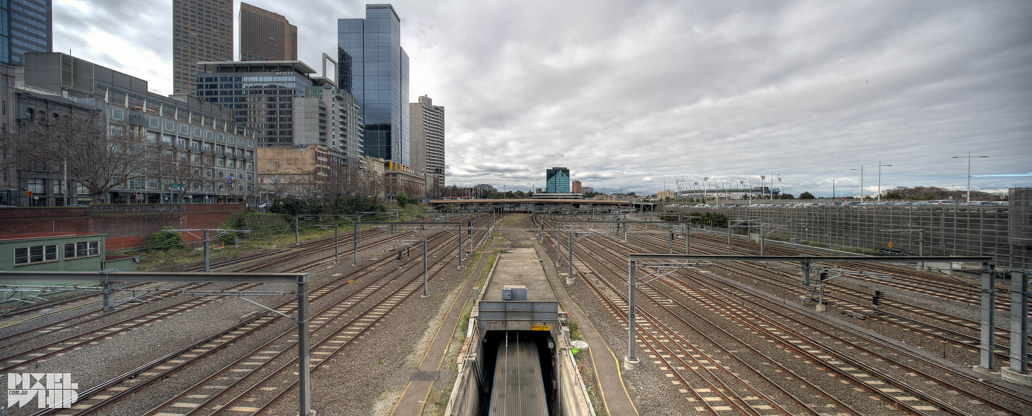 Photograph Melbourne Rail HDR Panorama by mark burban on 500px