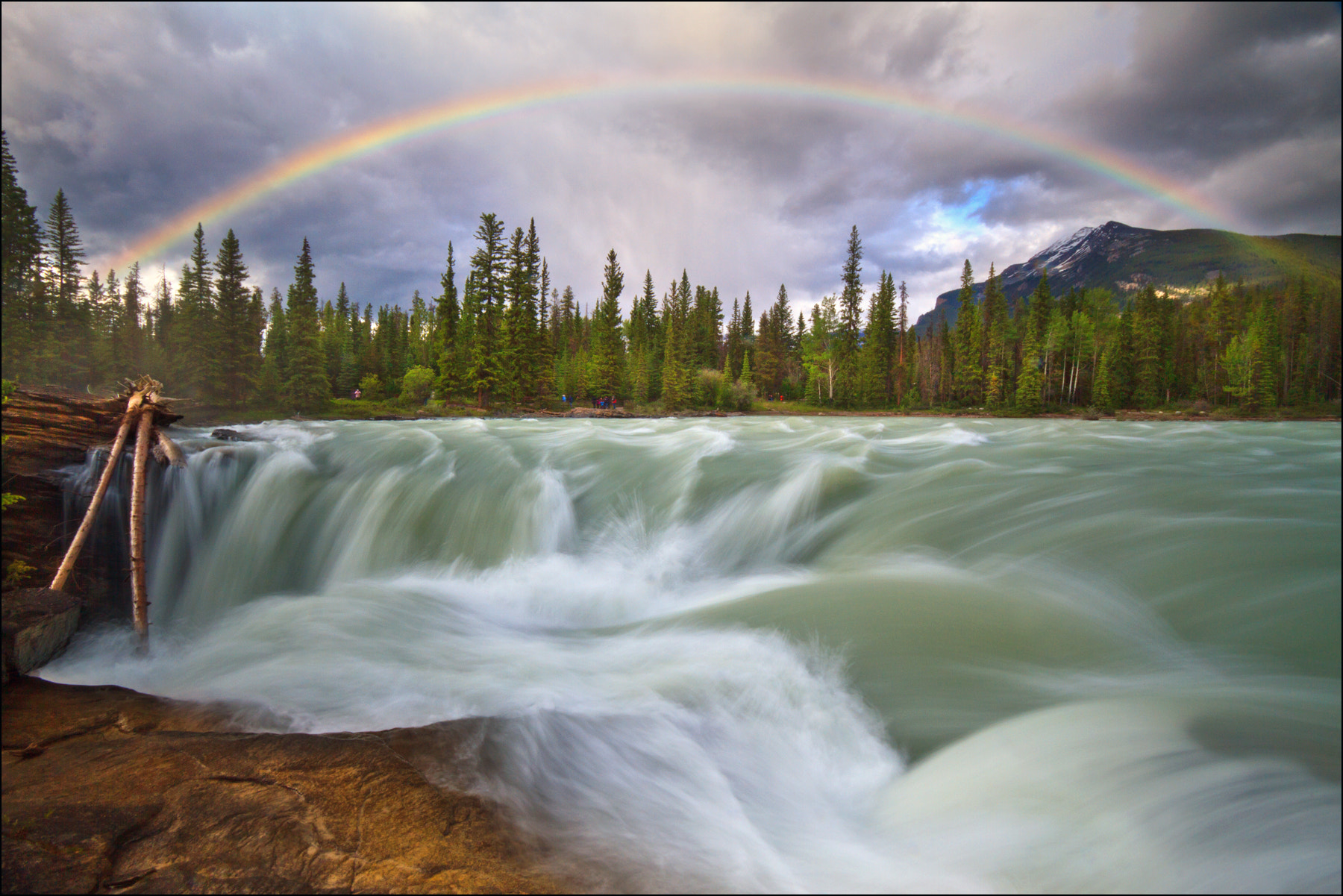 Photograph Athabasca Falls Rainbow by Steve Passlow on 500px