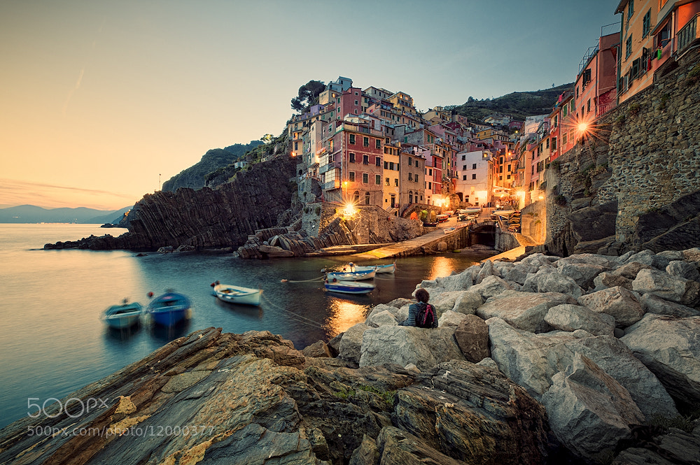 Photograph Sundown Showdown in Riomaggiore by Allard Schager on 500px