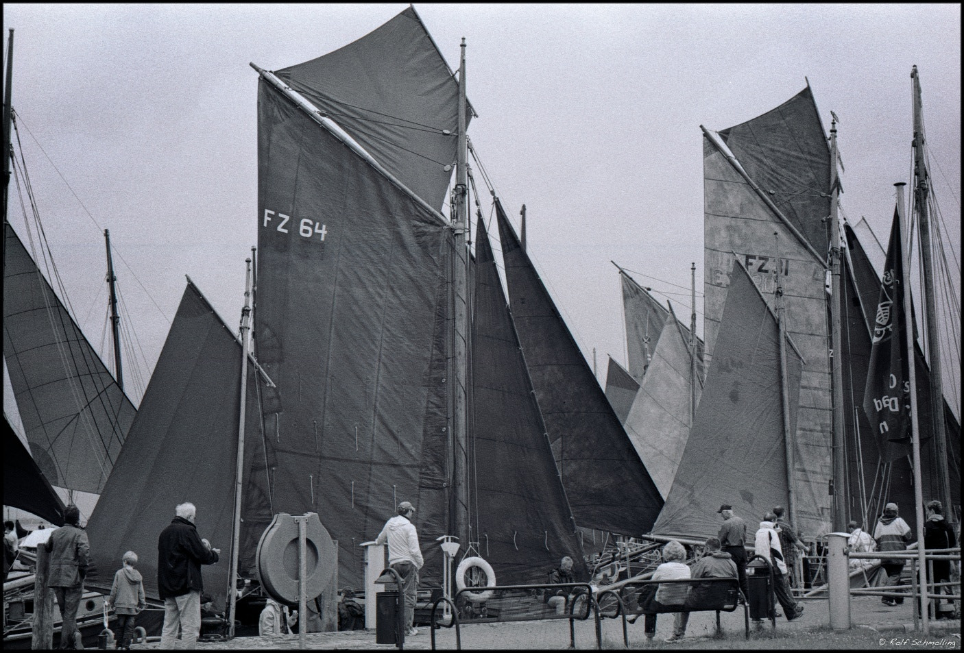 Photograph Sails. Zeese-Boot race on the Bodden, Baltic Sea, July 2012. by Rolf Schmolling on 500px
