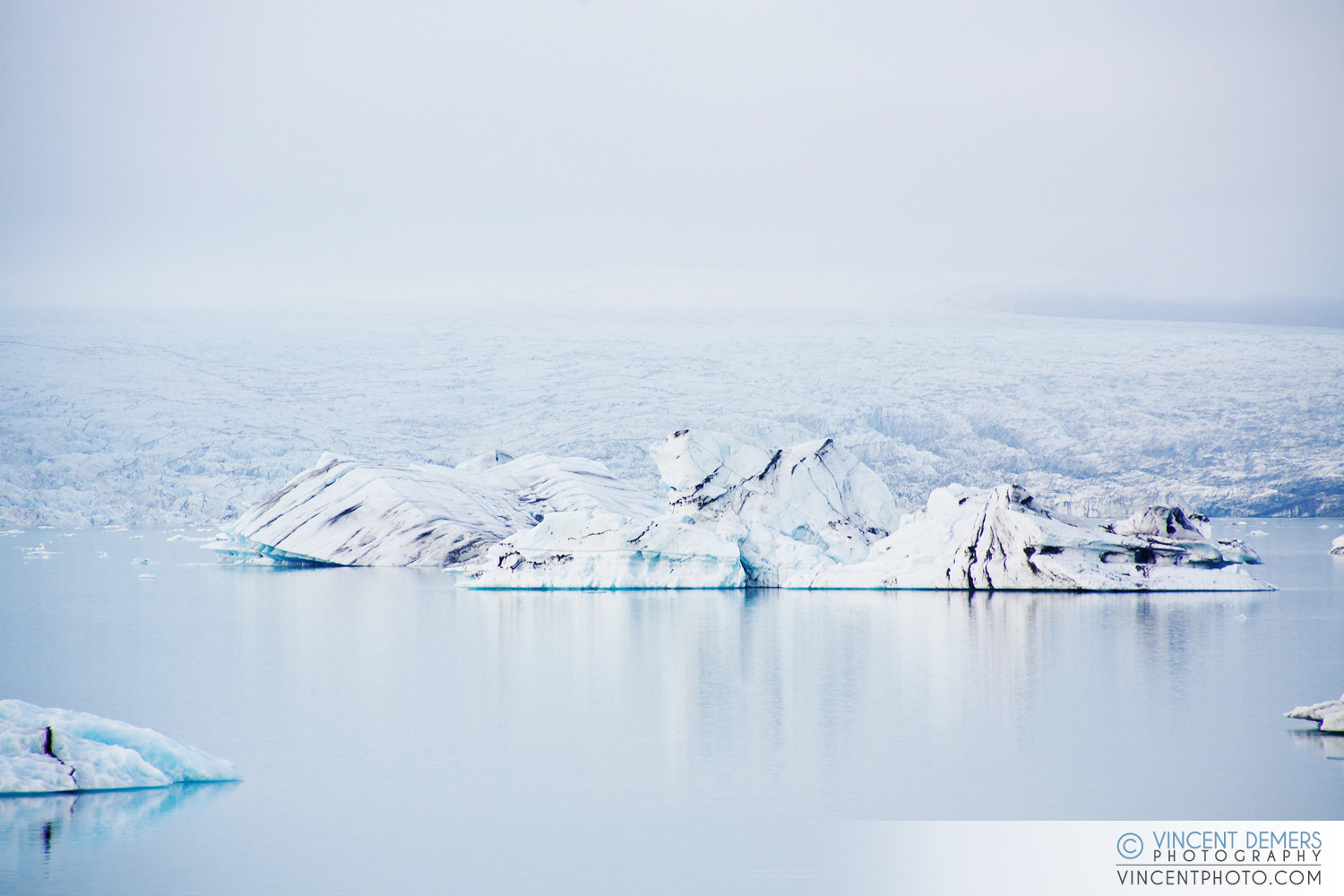Photograph Iceberg in Jökulsárlón, a glacial lagoon in Iceland by Vincent Demers on 500px