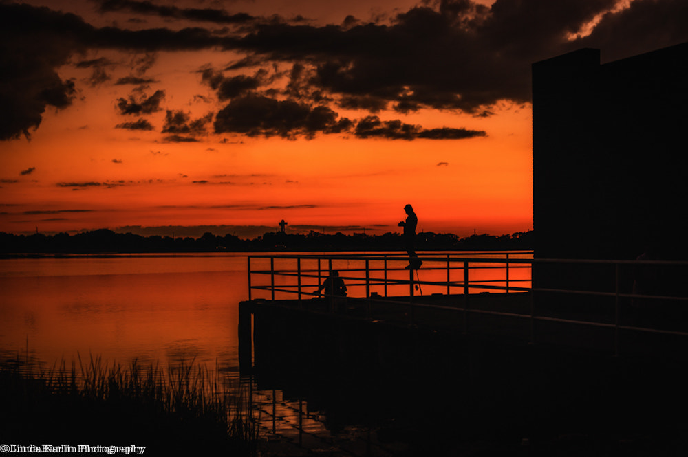Photograph Fishing At Sunset by Linda Karlin on 500px