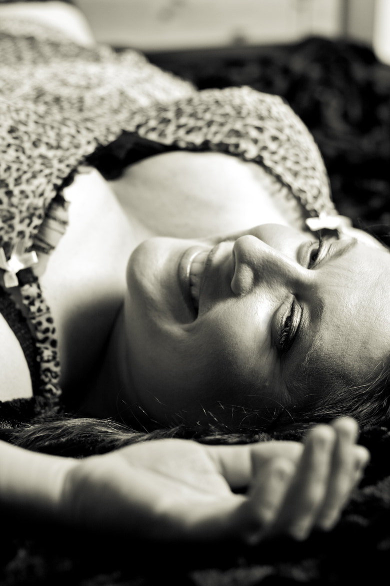 Photograph Janine black and white by Michelle Lovegrove on 500px