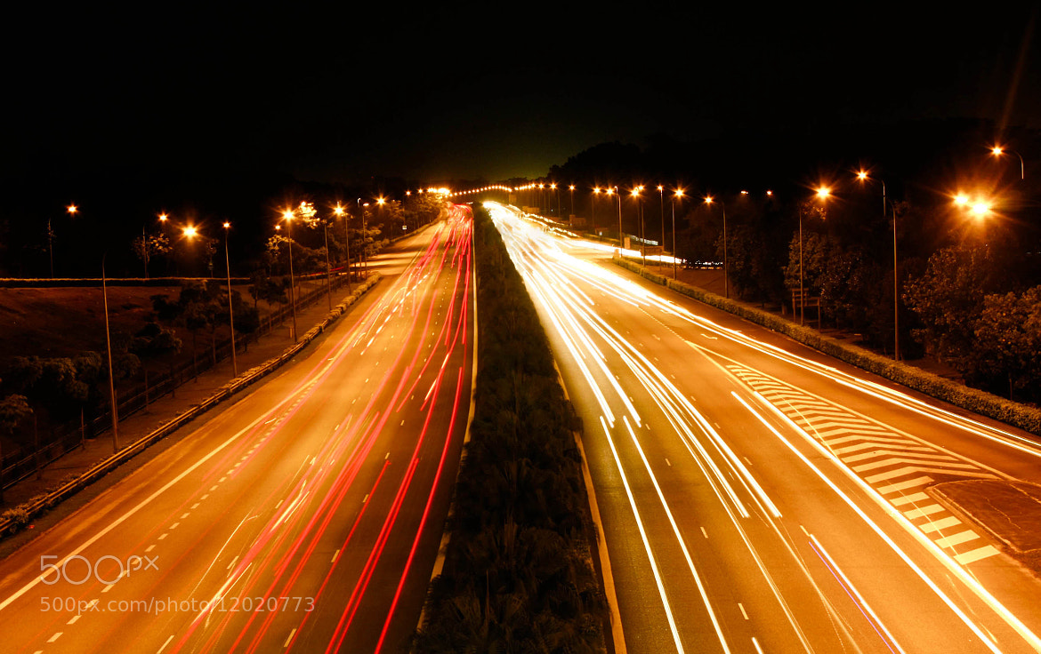 Photograph Light trails  by Nev Lim on 500px