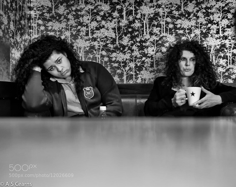 Photograph Bored girls in Liverpool cafe by tony cearns on 500px