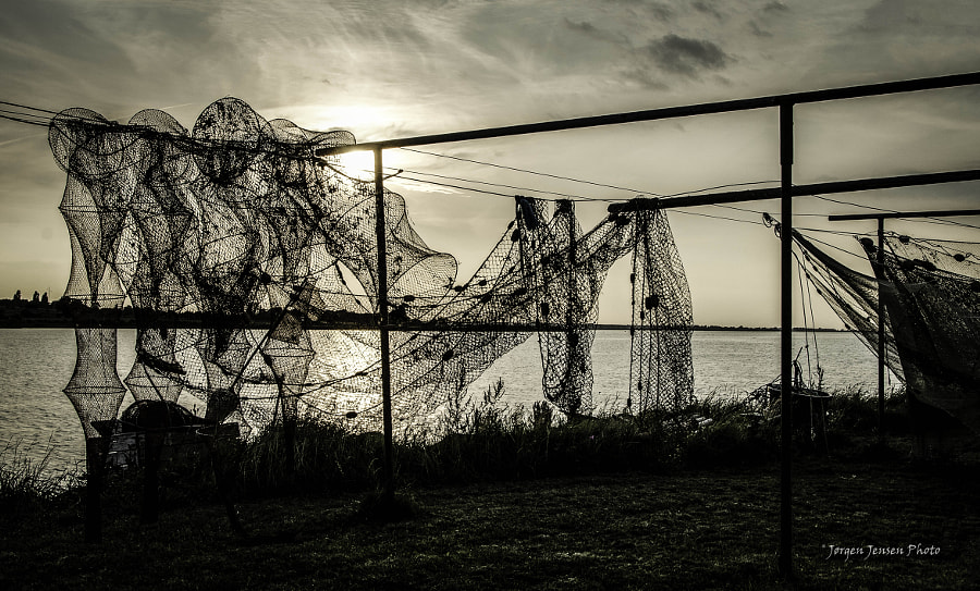 Fishing nets in the sunset (1)