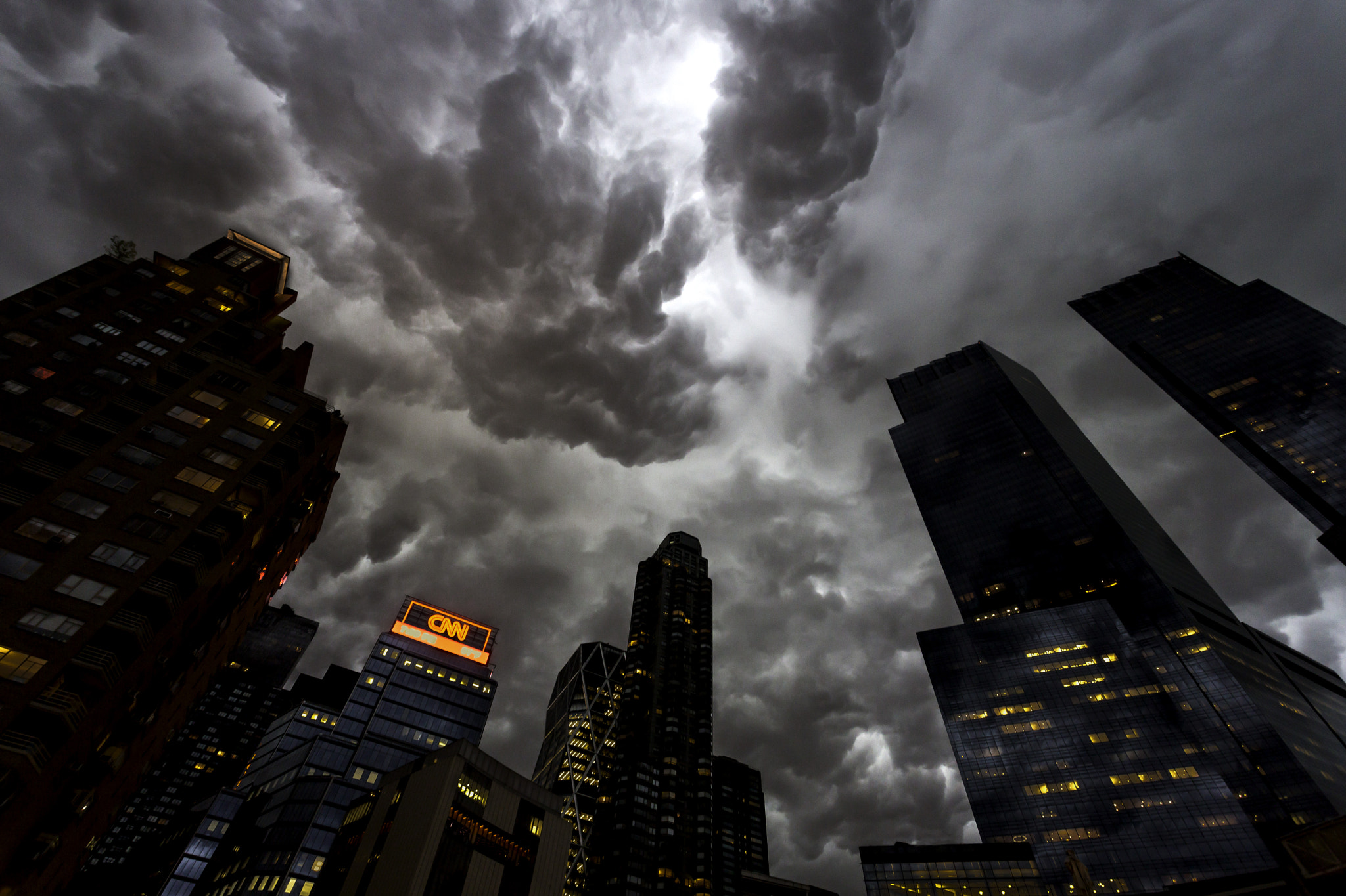 Photograph Columbus Circle Storm Clouds by Ronald Diel on 500px