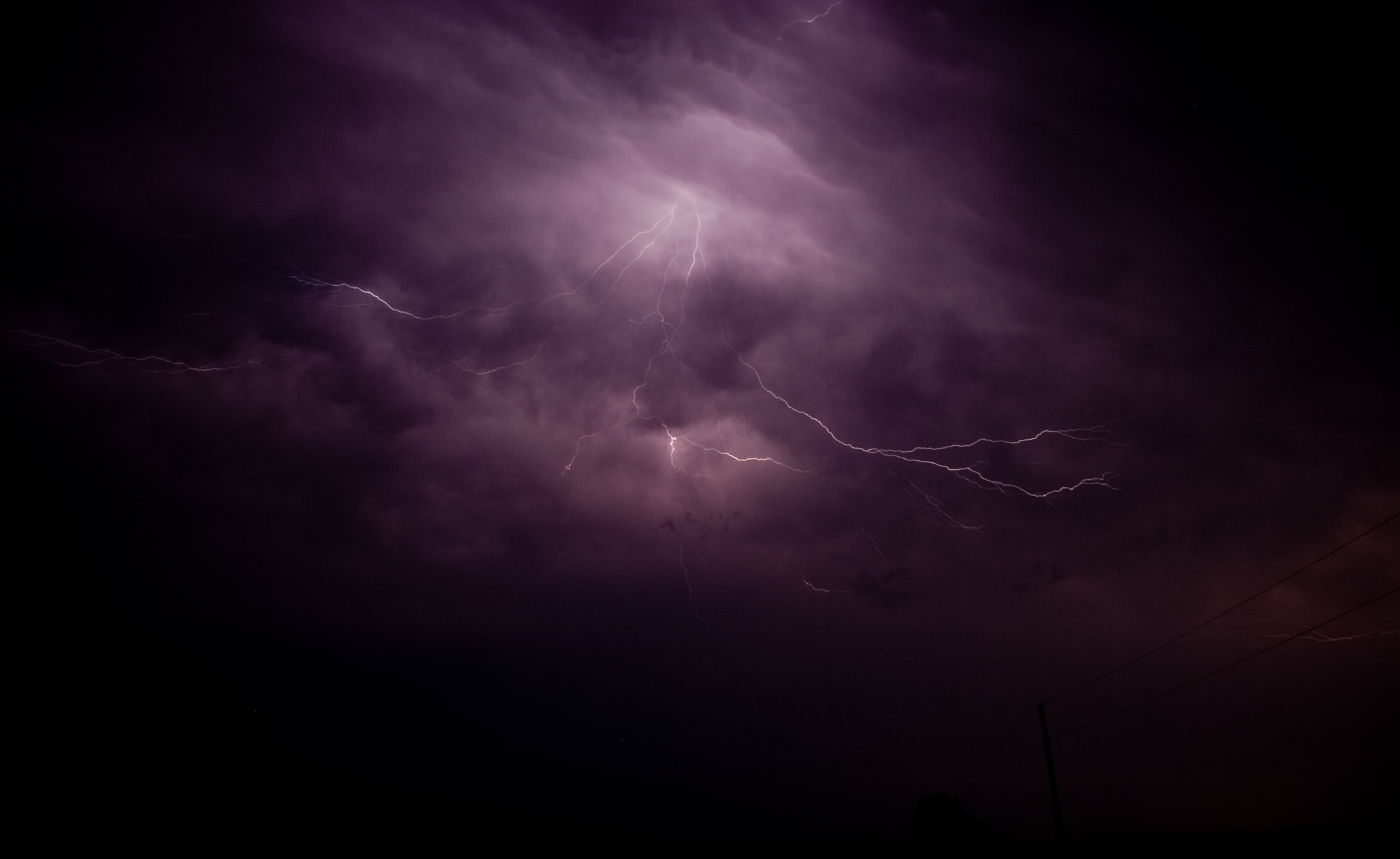 Photograph Lightning Through the Clouds  by Brad Denny on 500px