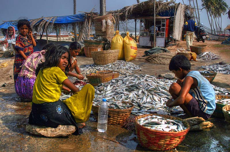 Photograph Children in the Fishing Village by Salih Zorbozan on 500px