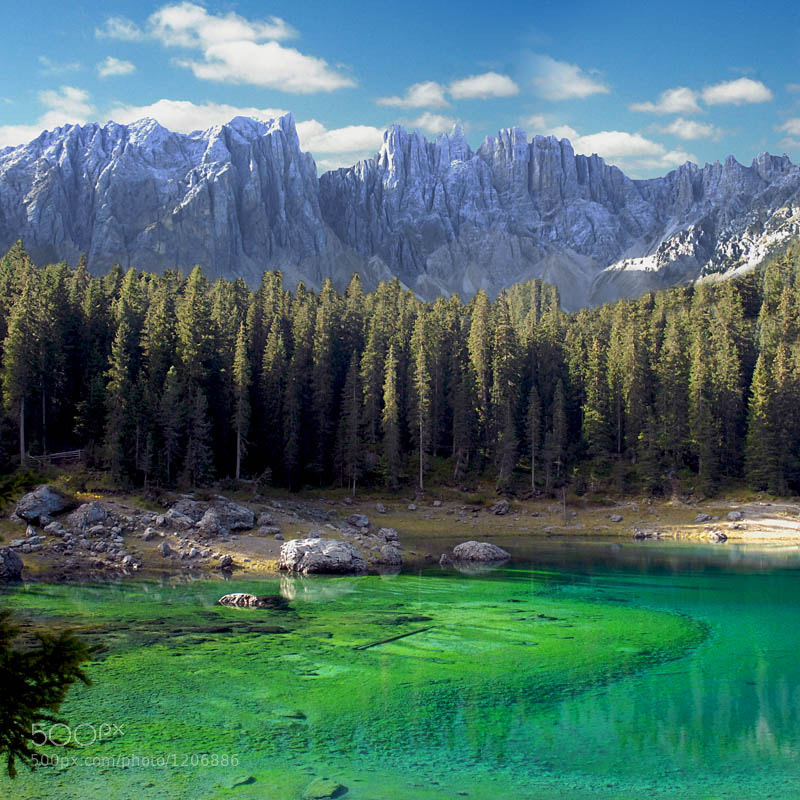 Photograph Carezza Lake ... Latemar Dolomites by Franco Mottironi on 500px