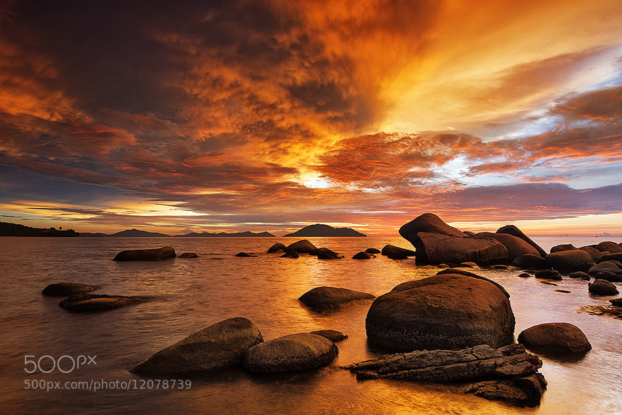 Photograph Flaming Sunset by Bobby Bong on 500px