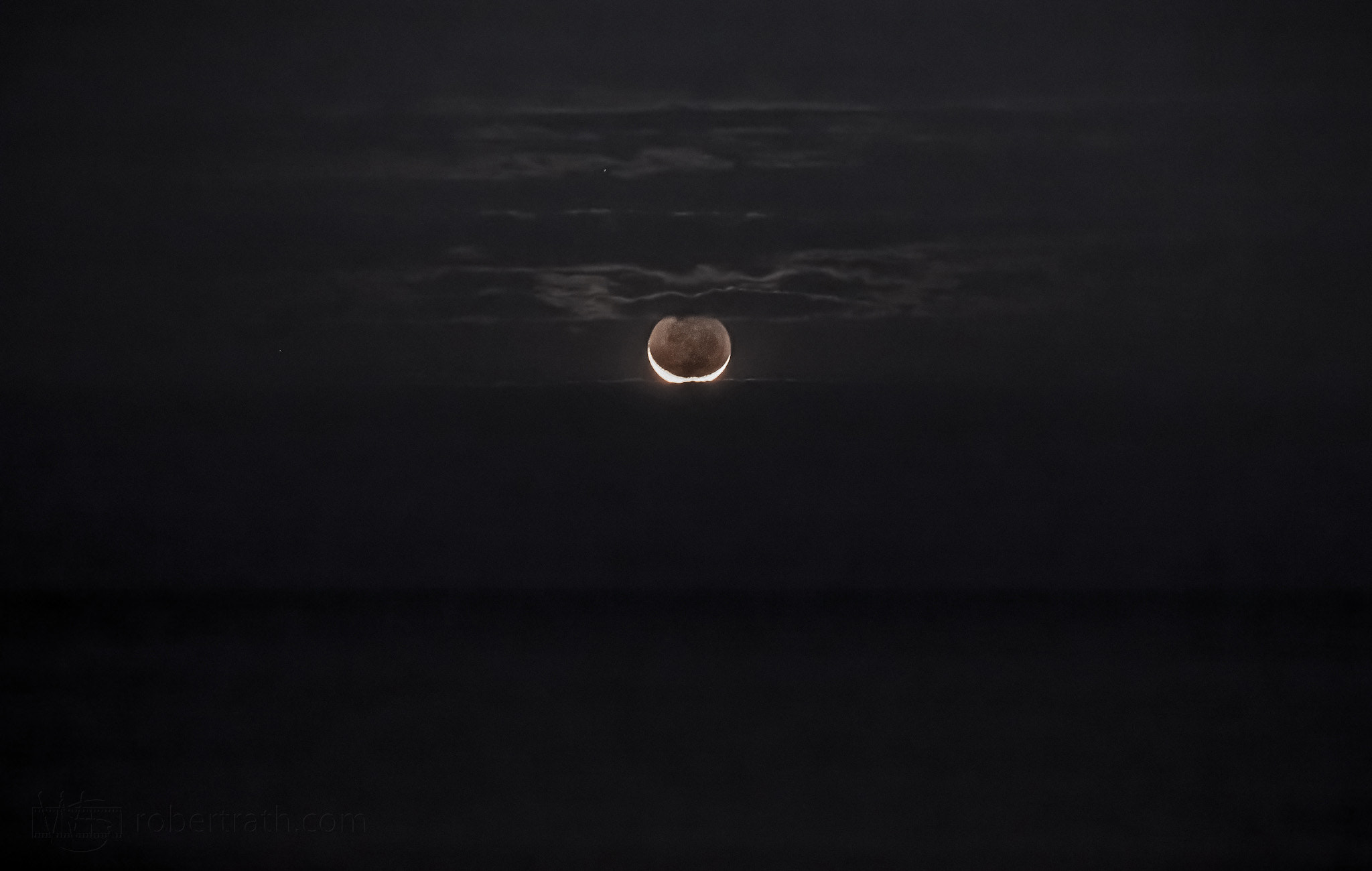 Photograph 366 Days of 2012, Day 233 - Waxing Crescent Moon by Robert Rath on 500px