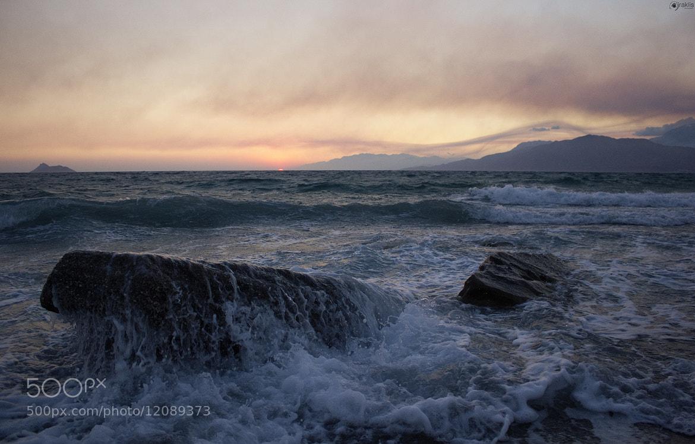 Photograph Komos Beach Sunset by Iraklis Makrygiannakis on 500px