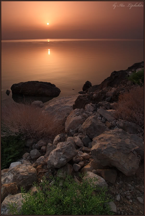 Sunrise on Dead Sea #1