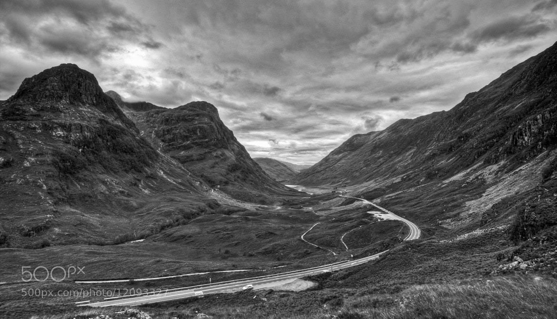 Photograph Mountain pass B&W by Jari Knuutila on 500px