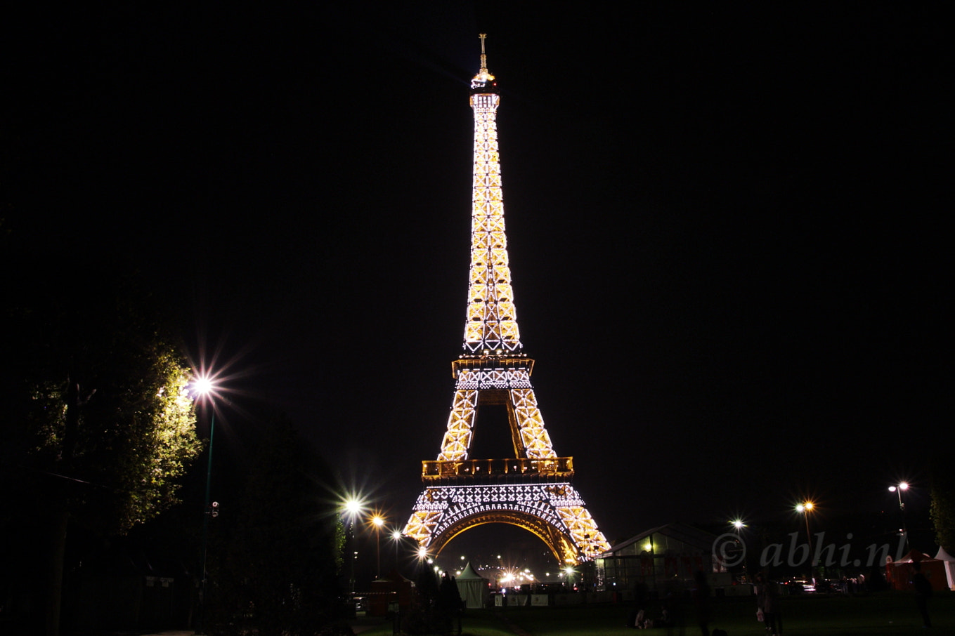 Photograph Eiffel tower at night by Abhishek D on 500px