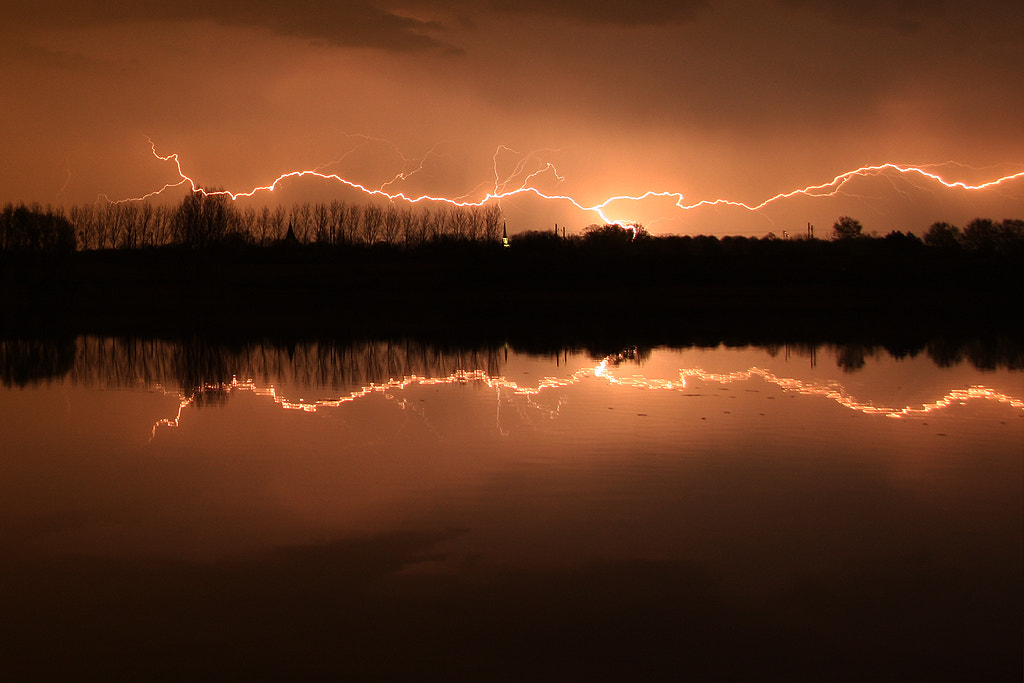 Photograph Lightning at the lake by Wesley Guijt on 500px