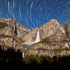 Yosemite Falls Moonbow Star Trails by Jeff Sullivan