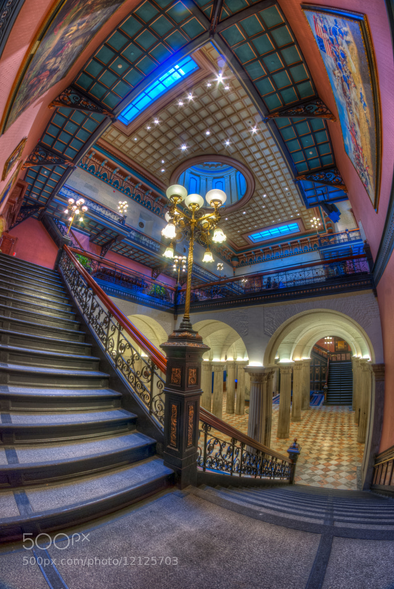 Photograph State House Stairway by David Baker on 500px