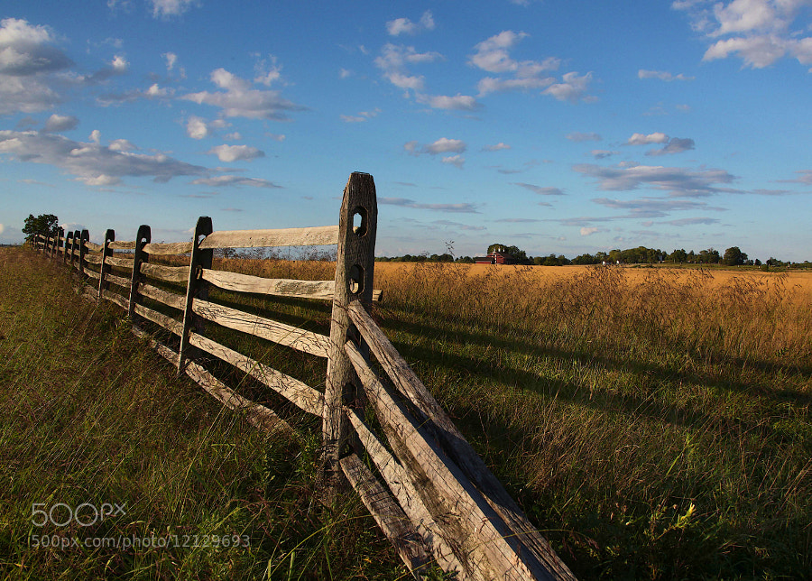 This photo was taken near the site of Picketts Charge, Battle of Gettysburg.  Split rail fences similar to this one caused bottlenecks and disorganized the ranks of the attackers, ultimately resulting in their defeat.