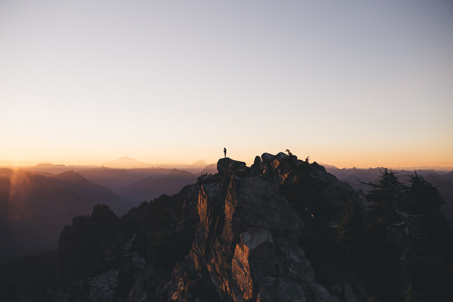 Sunrise a top Mt. Pilchuck in Washington. by Tanner Seablom on 500px.com