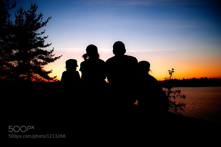Photograph Family Sunset by Vaughn Barry on 500px