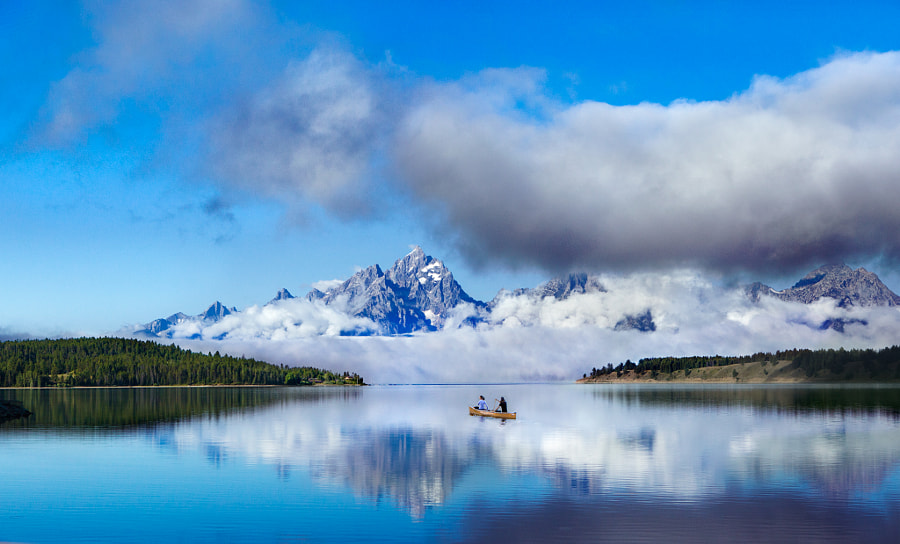 Photograph Canoeing under the Tetons by Linked Ring Photography on 500px