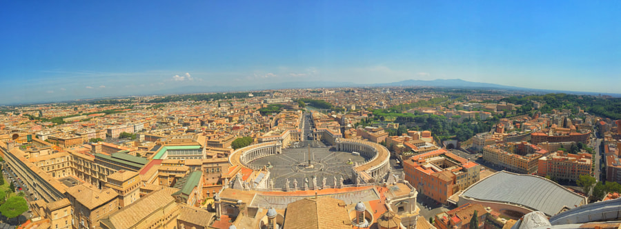 Vatican Panaromic by Ahmet Hamdi on 500px.com