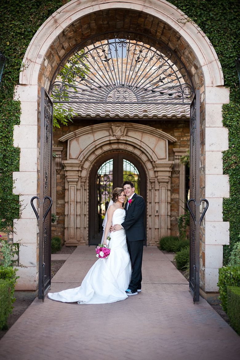 Photograph Bride and Groom under Arch by Stephen Probert on 500px