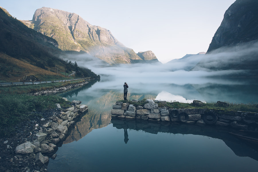 Foggy sunrise in Olden, Norway by Rob Sese on 500px.com
