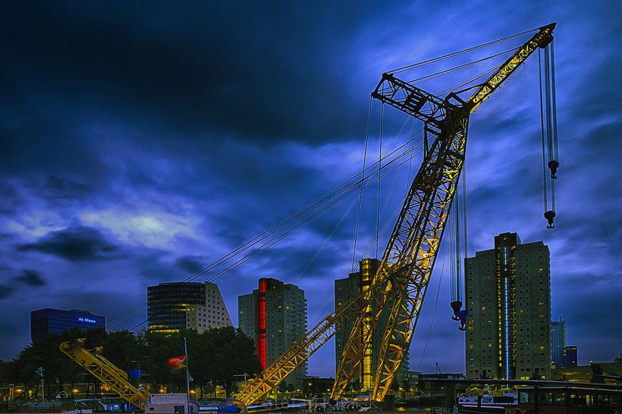 A crane in Rotterdam