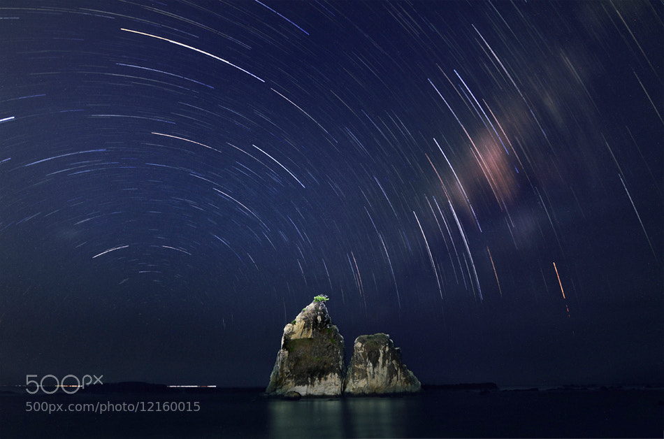 Photograph Star trail in sawarna by Mieke Suharini on 500px