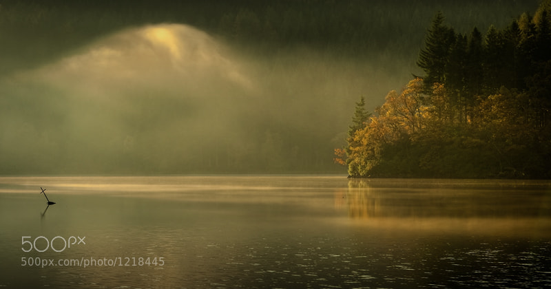 Autumn light, loch Ard... by David Mould (mouldy) on 500px.com