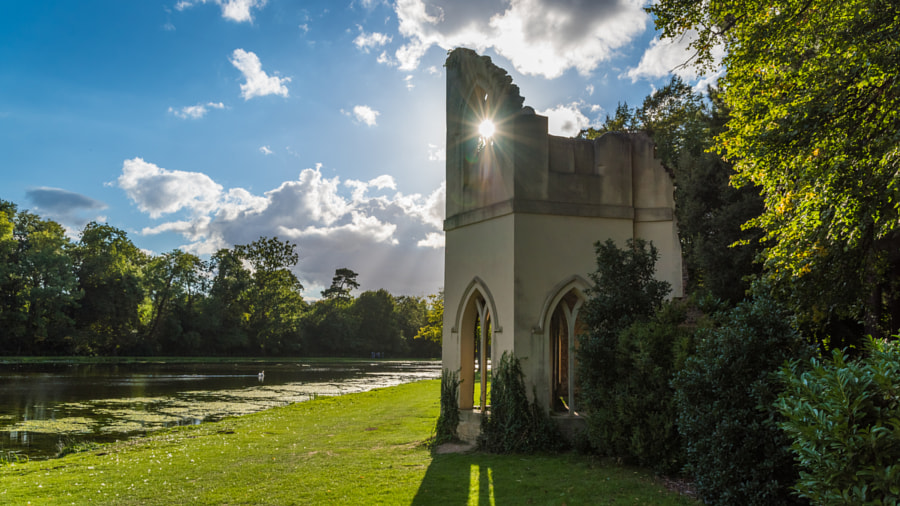 __Ruined Abbey with Sunlight through Window__