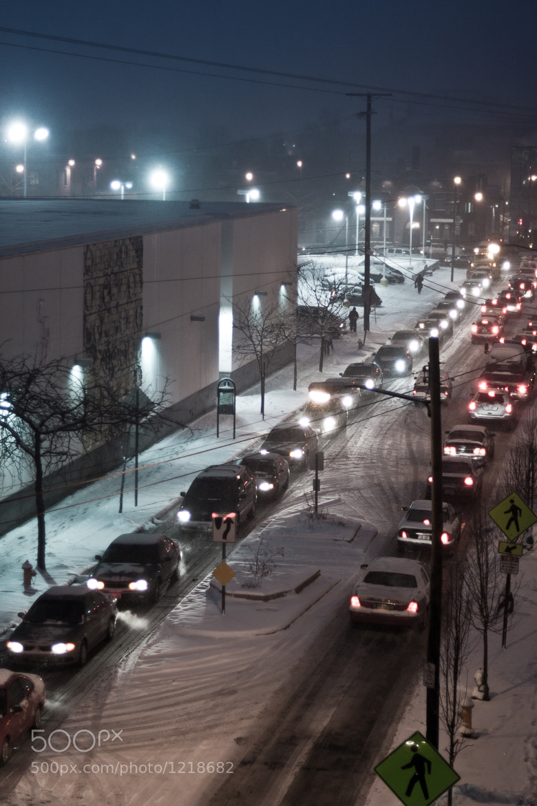 Photograph Snowy Traffic by Justin Marimon on 500px