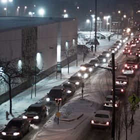 Snowy Traffic by Justin Marimon (JustinMarimon)) on 500px.com