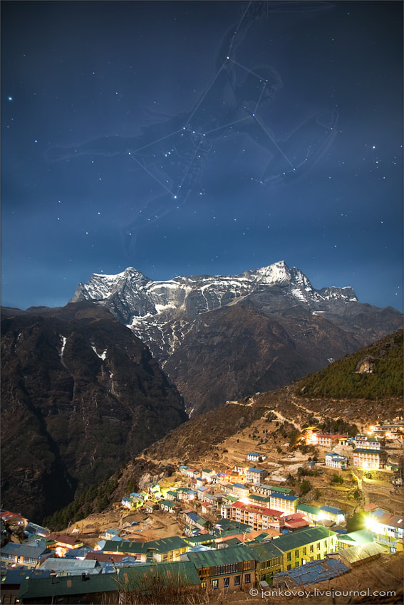 Photograph Orion above the Himalayas by Anton Jankovoy on 500px