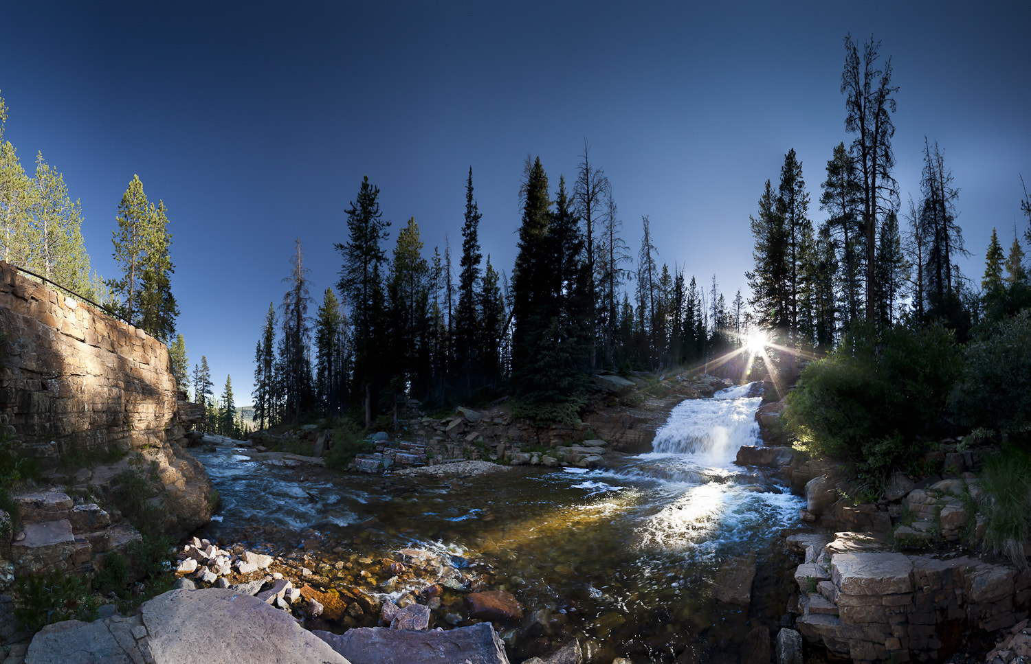Photograph Provo Falls Panoramic by Clinton Melander on 500px