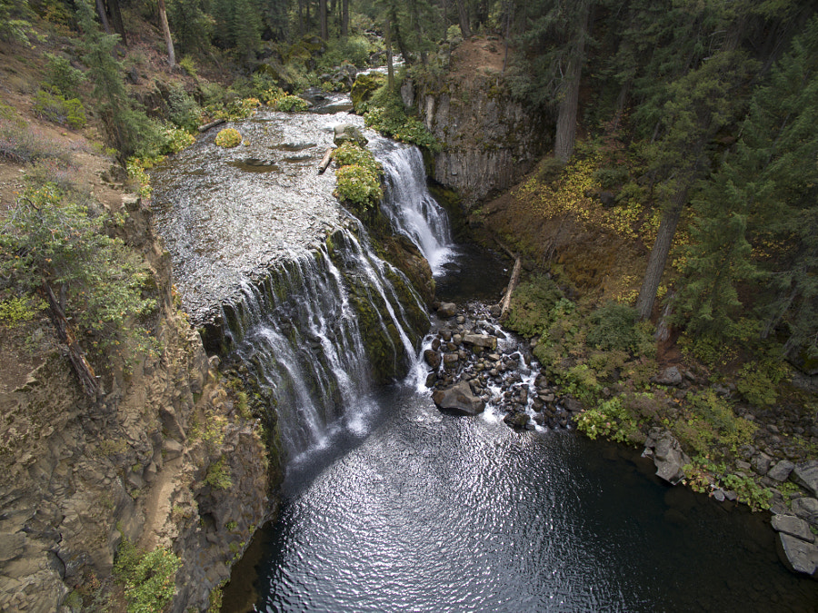 McCloud Falls Aerial Perspective by Lloyd Garden on 500px.com