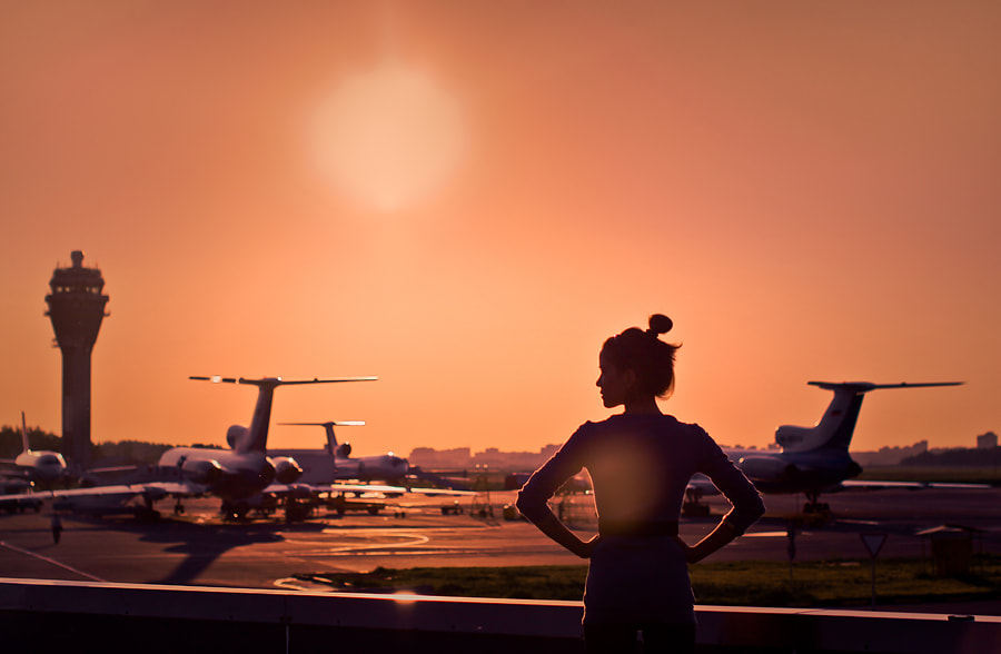Photograph Airport sunset by alexander kan on 500px