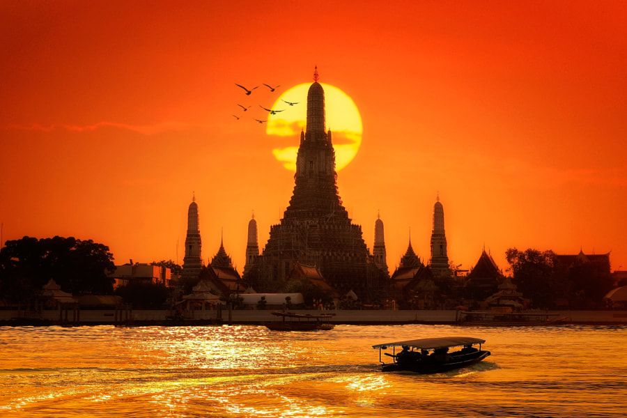 Wat arun by Santi foto on 500px.com