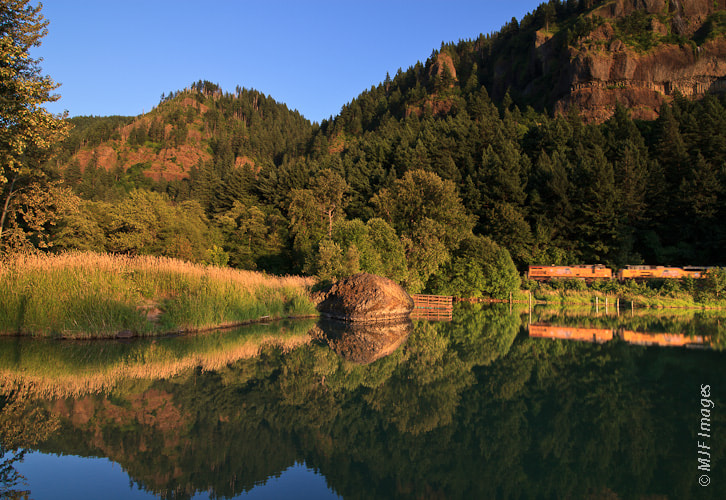 Photograph Train through the Gorge by Michael Flaherty on 500px