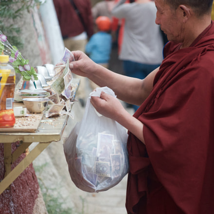 Monk Collecting Donations