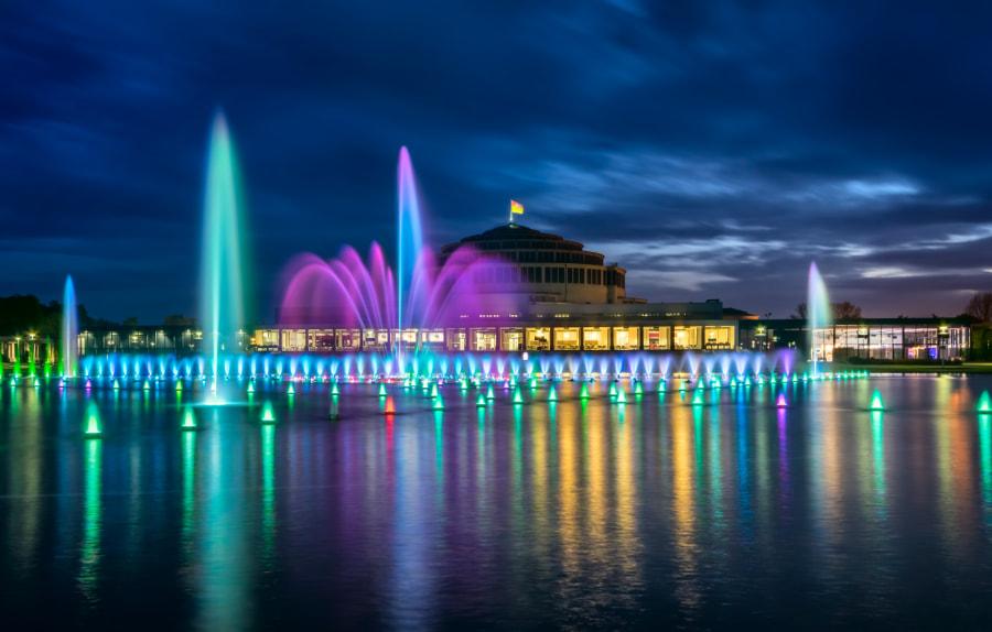 Multimedial Fountain in Wroclaw