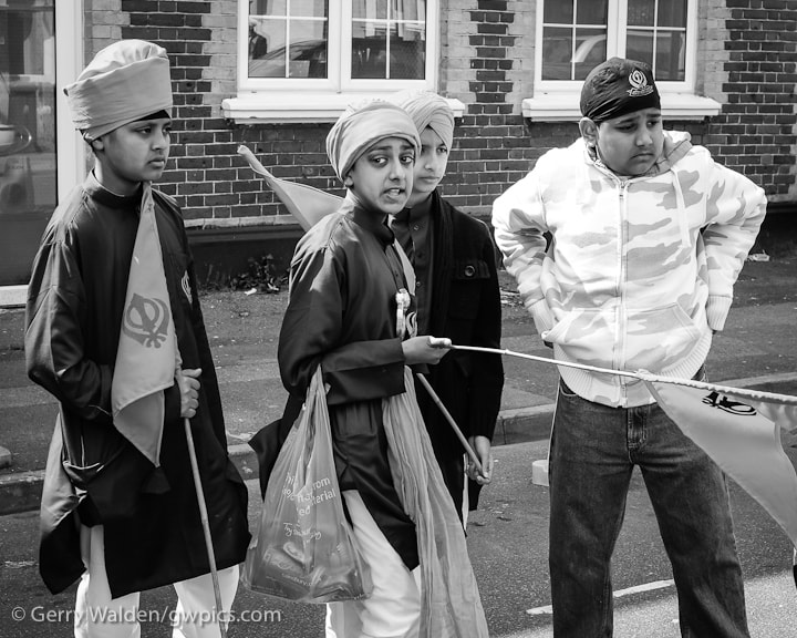 Young boys at the Vaisakhi celebrations.