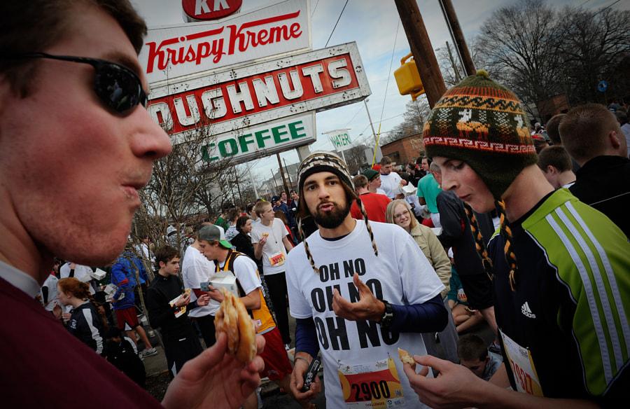 Thousands decended upton the Krispy Kreme on Peace